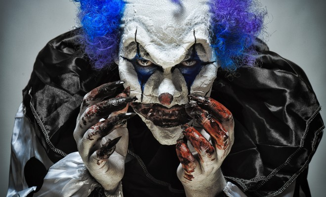 Nightmare clown halloween makeup tutorial
