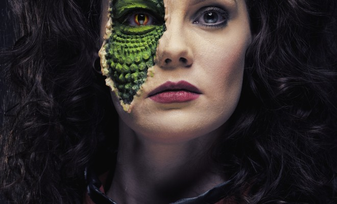 V series 1983 reptile Diana halloween makeup tutorial
