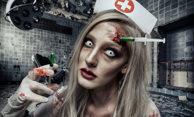 Dead nurse halloween makeup tutorial