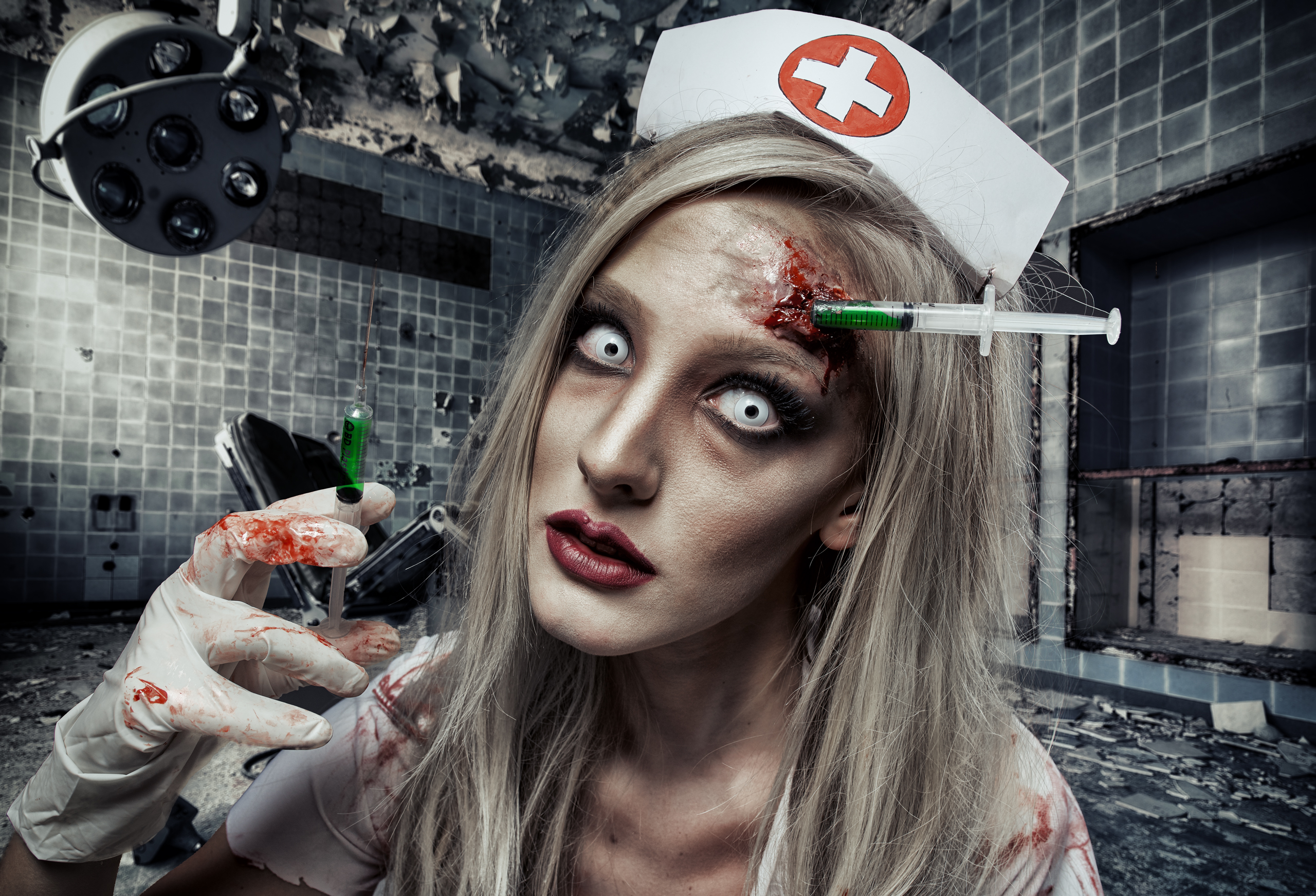Dead nurse halloween makeup tutorial - Ellimacs SFX