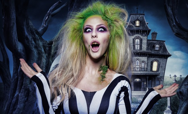 Beetlejuice babe halloween makeup tutorial