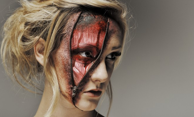 Zipper face zombie halloween makeup tutorial