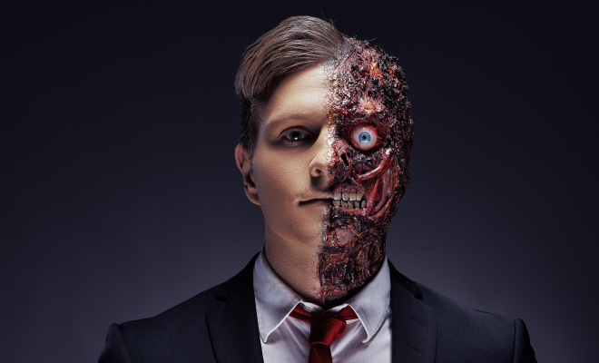 Two face halloween
