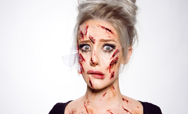 Glass shards special fx makeup tutorial