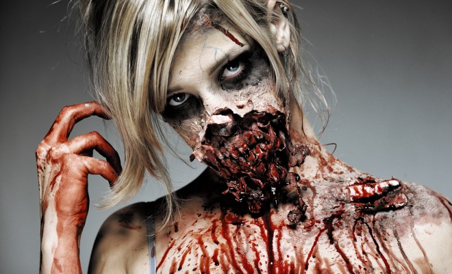 Gory halloween zombie makeup tutorial