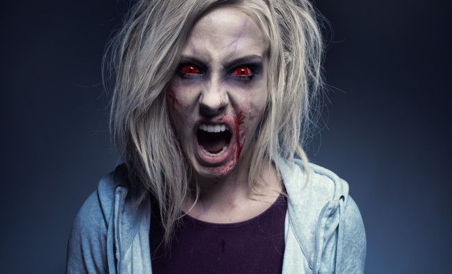 iZombie Olivia Moore full on zombie halloween makeup tutorial