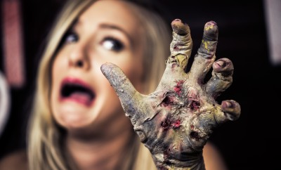 Classic zombie hand halloween makeup tutorial