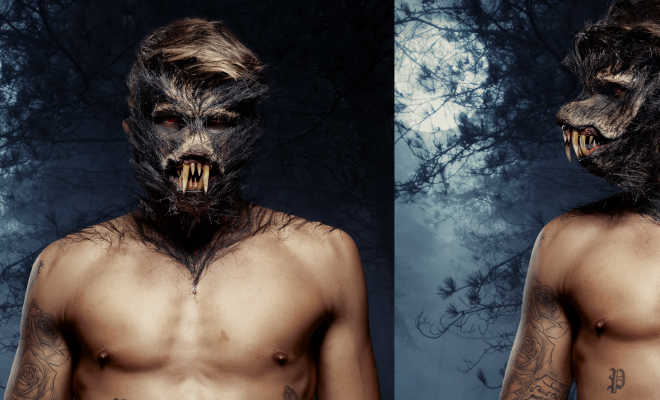 Werewolf halloween makeup tutorial