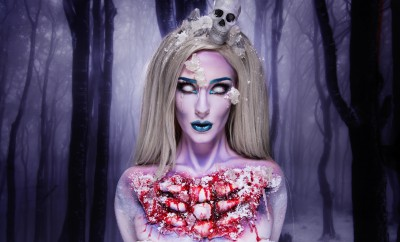 Ellimacs SFX Frost Glam Halloween Makeup Tutorial
